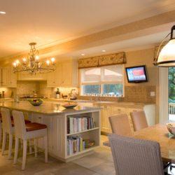 Kitchen Interior Design With Granite Island